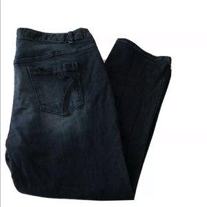 26W Lane Bryant Straight Jeans dark Wash Stretch